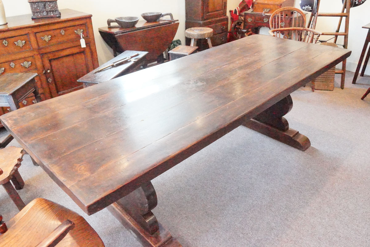 Antique Chestnut Refectory Dining Table Hingstons Antiques Dealers