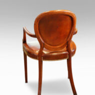 Edwardian mahogany and leather desk chair