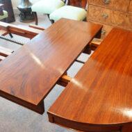 Edwardian mahogany circular dining table ,7