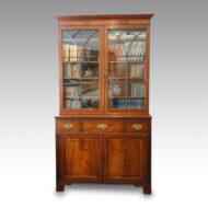George III mahogany library bookcase