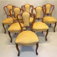 Set,of,6,Victorian,Walnut,cabriole,legged,dining,chairs