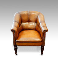 Victorian button-back leather easy chair