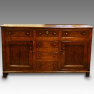 George III oak dresser base