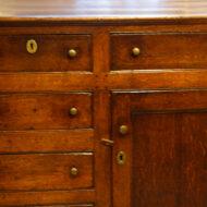 George III oak dresser base detail
