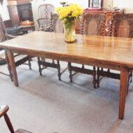Elm farmhouse table
