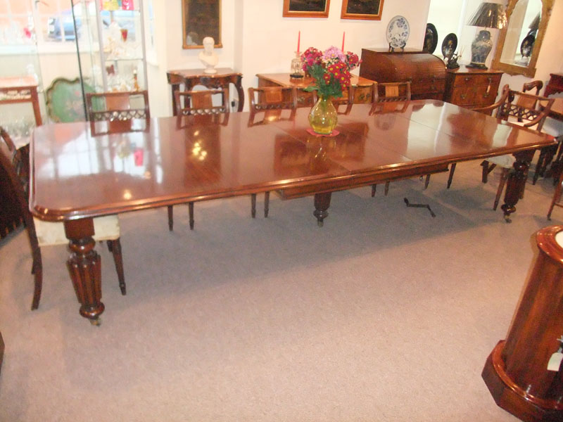 Victorian Large 12 Seat Mahogany Dining Table Hingstons Antiques Dealers