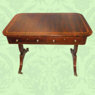 Regency,rosewood,library,table,