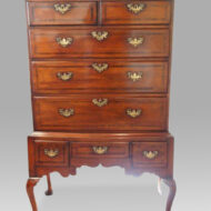 George III chestnut chest on stand