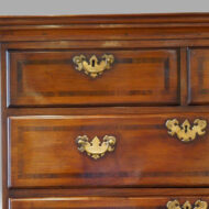 George I chestnut chest on stand