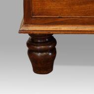 George III mahogany chest turned foot