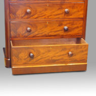 Victorian mahogany chest of drawers disguised bottom drawer open