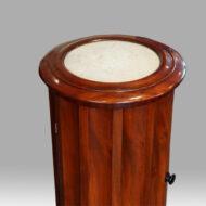 Victorian mahogany circular bedside cabinet