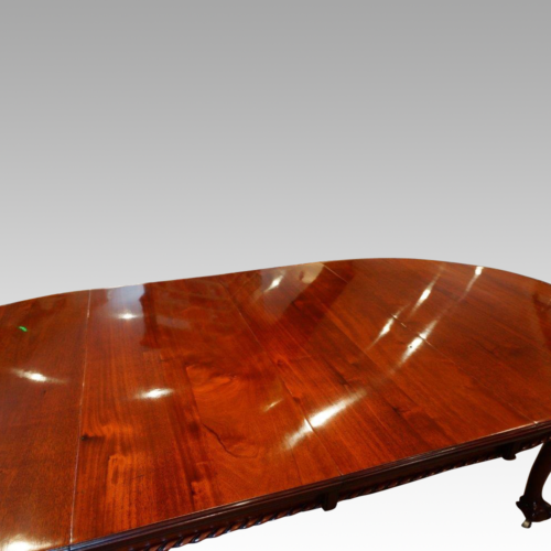 Antique dining table in mahogany