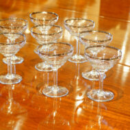 Set of 8 Art Deco champagne glasses