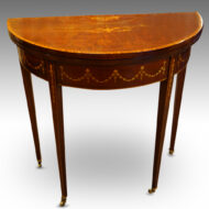 Edwardian small demi-lune card-table,1
