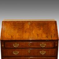 George III inlaid walnut bureau 1