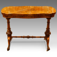 Victorian shaped inlaid walnut cardtable