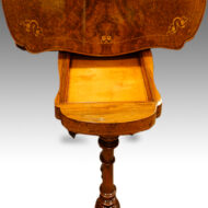 Victorian shaped inlaid walnut cardtable top