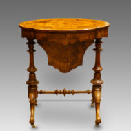 Victorian inlaid walnut shaped work-table