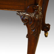 Edwardian dining table leg carving