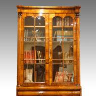 William IV rosewood bookcase glazed top