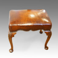 Queen Anne style walnut stool