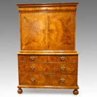 Queen Anne walnut fitted cabinet