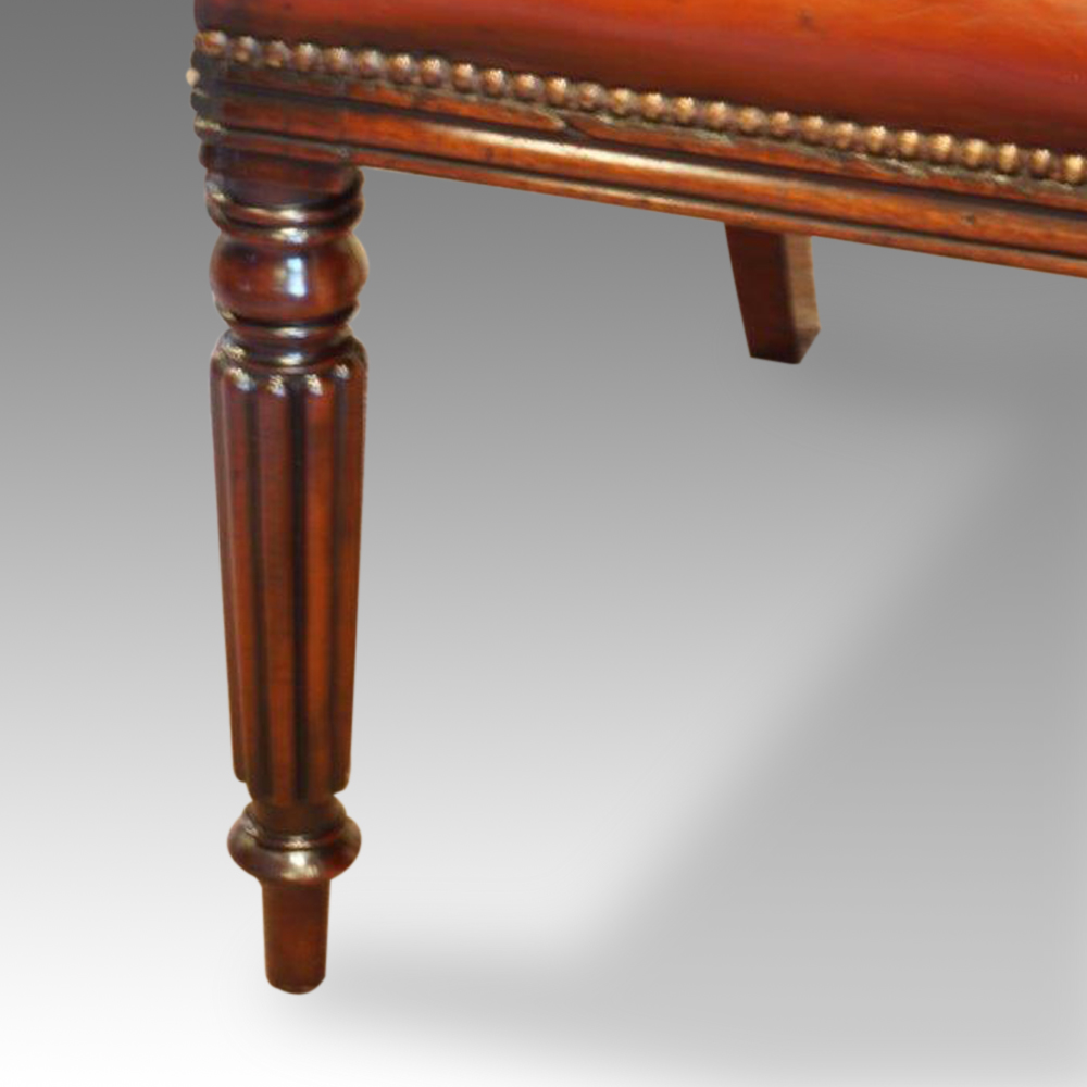 regency mahogany desk chair now sold hingstons antiques dealers