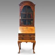 Antique walnut bureau bookcase