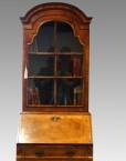 Antique walnut bureau bookcase top