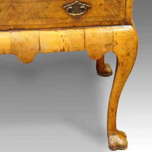 Antique walnut bureau bookcase leg