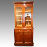 Victorian mahogany glazed cabinet bookcase