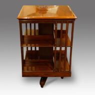 Antique revolving bookcase side view