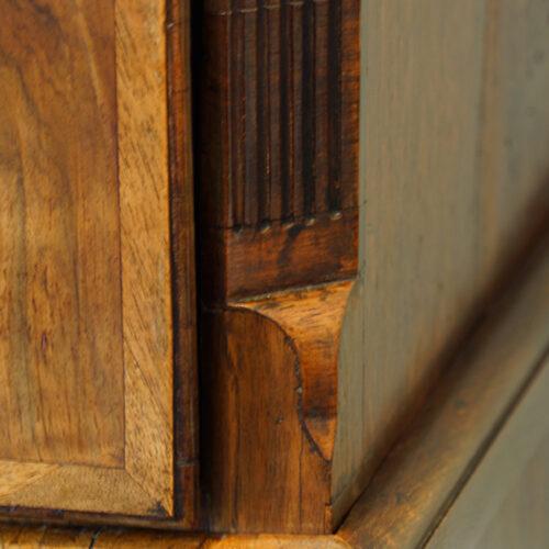 Antique chest canted corner