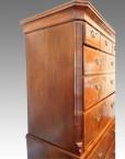 Antique tallboy oak sides