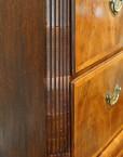 Antique walnut chest on chest fluted corner
