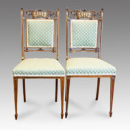 Pair of Inlaid Rosewood side chairs