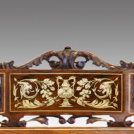 Pair of Inlaid Rosewood side-chairs