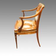 Regency mahogany desk chair side view