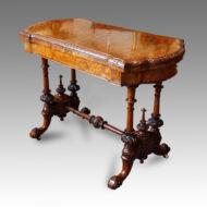 Victorian burr walnut card-table