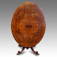 Victorian burr walnut oval loo table