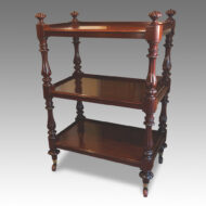 Victorian dumb waiter in mahogany