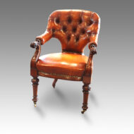 Victorian leather desk chair