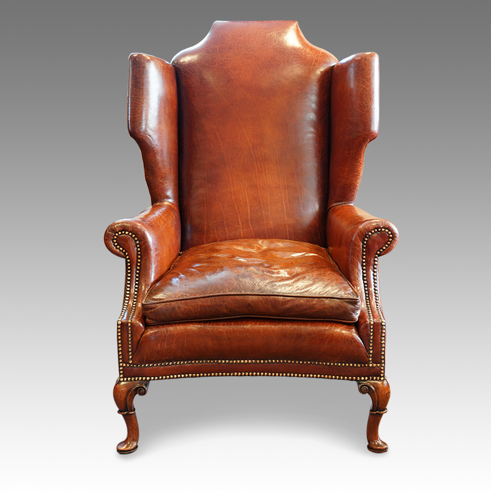 Antique queen anne wingback chair - Antique Queen Anne Wingback Chairs Ebay