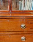 Regency inlaid mahogany secretaire bookcase drawer