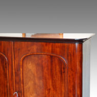 Victorian mahogany 2 door cupboard detail