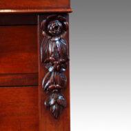 Victorian mahogany Wellington chest carving