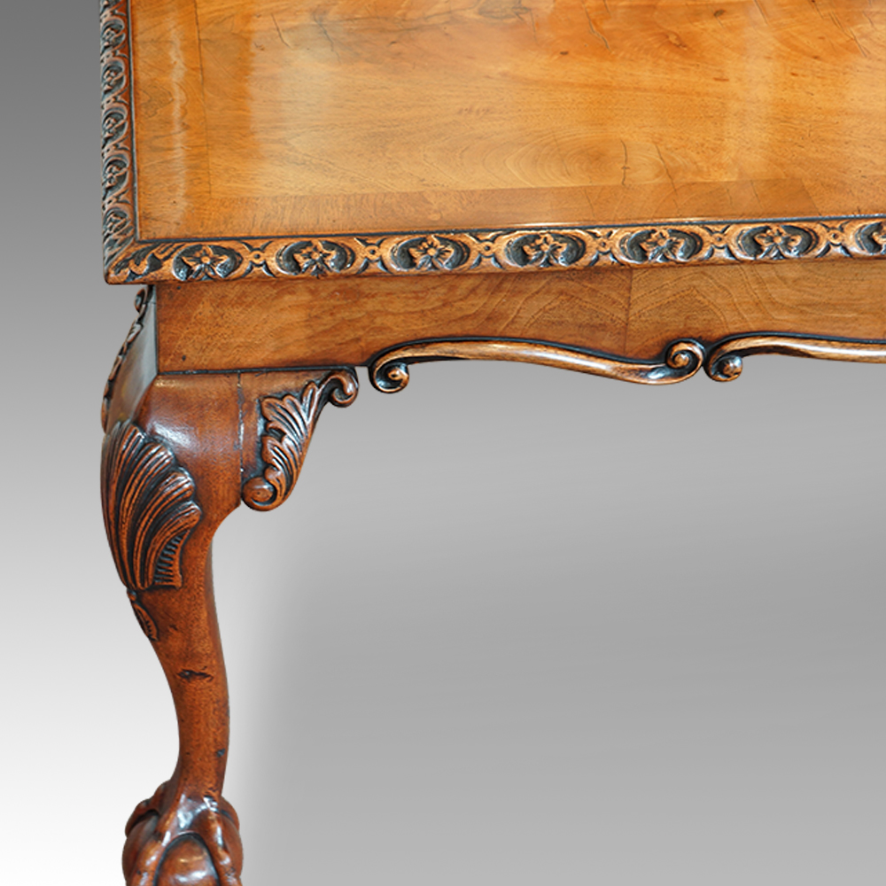 Walnut Coffee Table In The Queen Anne Style Now Sold Hingstons Antiques Dealers