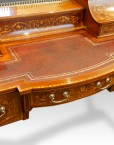 Edwardian inlaid mahogany writing desk writing surface
