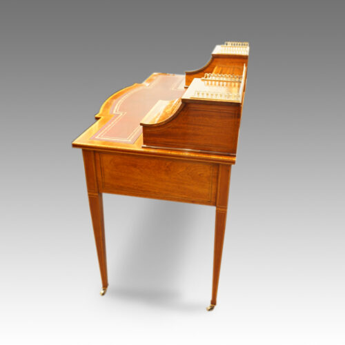 Edwardian inlaid mahogany writing desk side